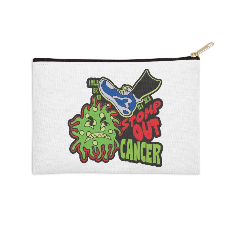 World Cancer Day Stomp Out Cancer! Accessories Zip Pouch by Moon Joggers's Artist Shop