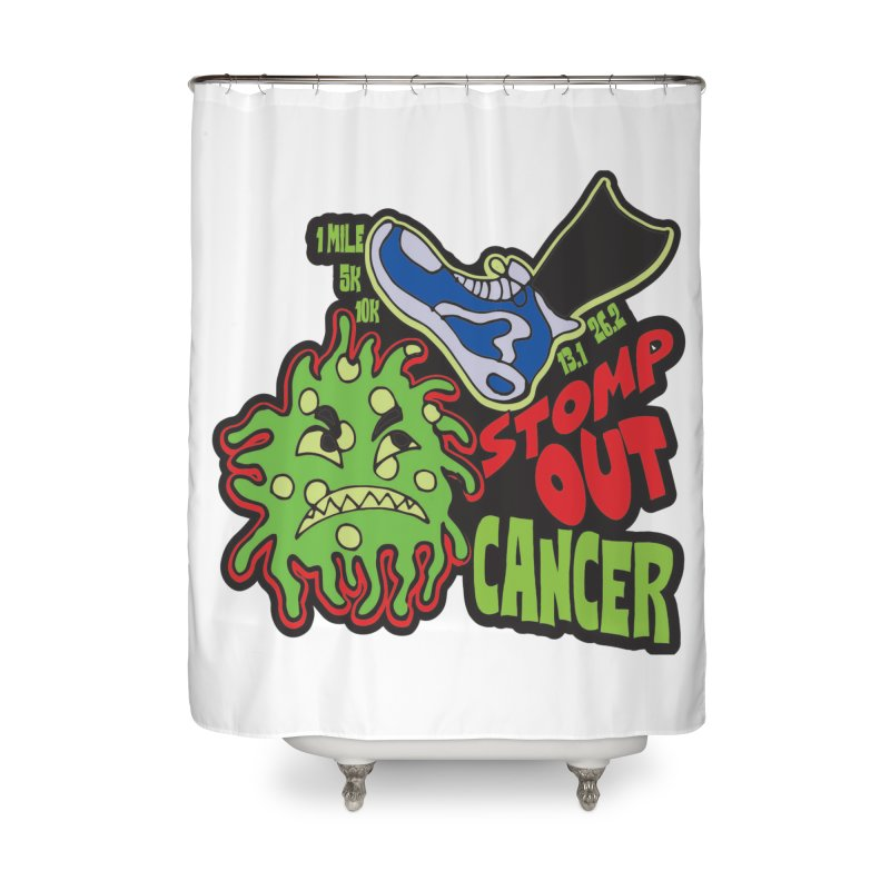 World Cancer Day Stomp Out Cancer! Home Shower Curtain by Moon Joggers's Artist Shop