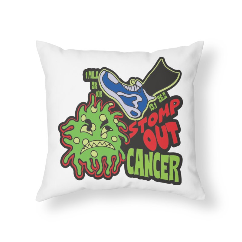 World Cancer Day Stomp Out Cancer! Home Throw Pillow by Moon Joggers's Artist Shop
