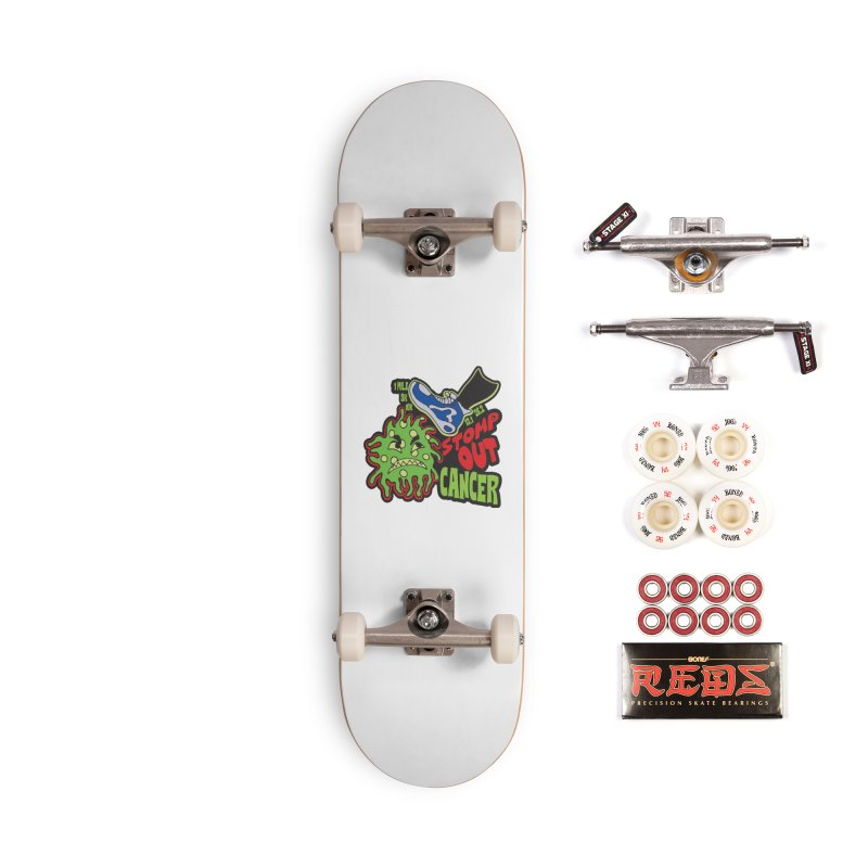 World Cancer Day Stomp Out Cancer! Accessories Complete - Pro Skateboard by Moon Joggers's Artist Shop