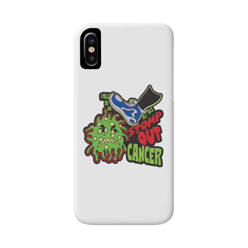 World Cancer Day Stomp Out Cancer! Accessories Phone Case by Moon Joggers's Artist Shop