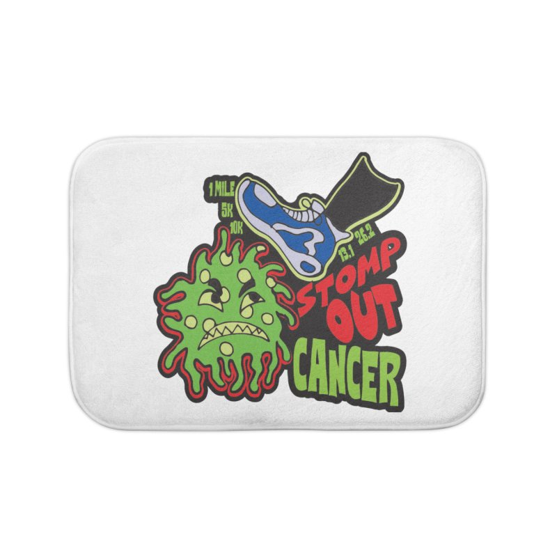 World Cancer Day Stomp Out Cancer! Home Bath Mat by Moon Joggers's Artist Shop