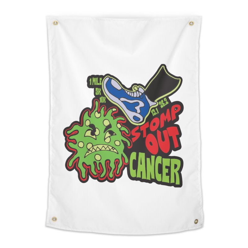 World Cancer Day Stomp Out Cancer! Home Tapestry by Moon Joggers's Artist Shop