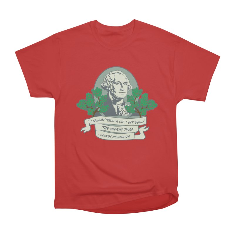 President's Day: Washington Men's Heavyweight T-Shirt by Moon Joggers's Artist Shop