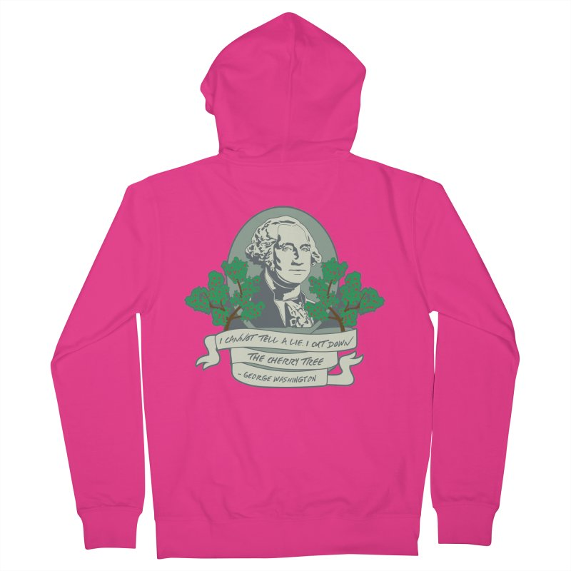 President's Day: Washington Men's French Terry Zip-Up Hoody by Moon Joggers's Artist Shop