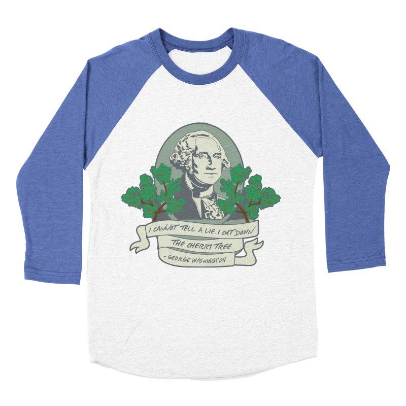 President's Day: Washington Men's Baseball Triblend Longsleeve T-Shirt by Moon Joggers's Artist Shop