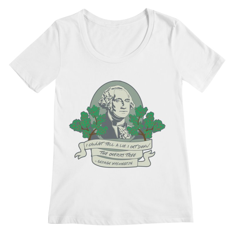 President's Day: Washington Women's Regular Scoop Neck by Moon Joggers's Artist Shop