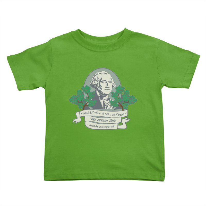 President's Day: Washington Kids Toddler T-Shirt by Moon Joggers's Artist Shop