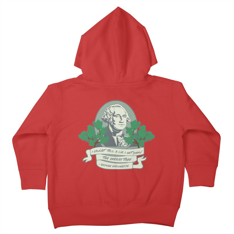 President's Day: Washington Kids Toddler Zip-Up Hoody by Moon Joggers's Artist Shop