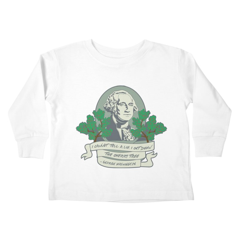 President's Day: Washington Kids Toddler Longsleeve T-Shirt by Moon Joggers's Artist Shop