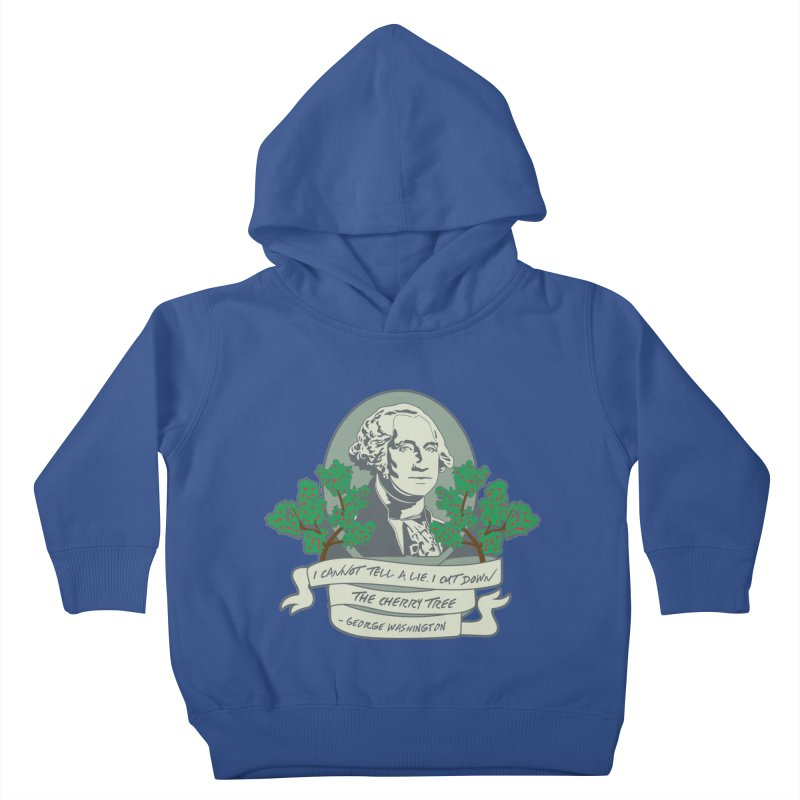 President's Day: Washington Kids Toddler Pullover Hoody by Moon Joggers's Artist Shop