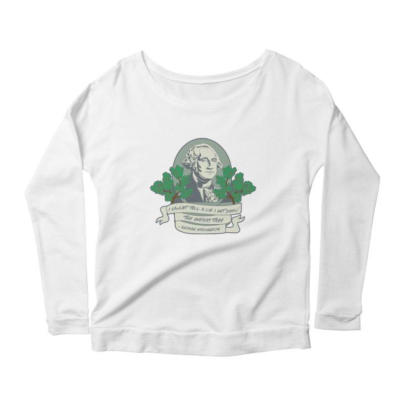 President's Day: Washington Women's Scoop Neck Longsleeve T-Shirt by Moon Joggers's Artist Shop
