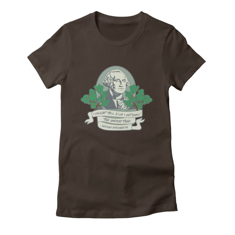 President's Day: Washington Women's Fitted T-Shirt by Moon Joggers's Artist Shop