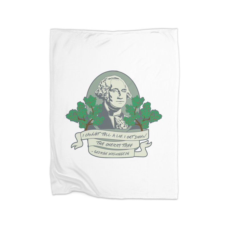 President's Day: Washington Home Fleece Blanket Blanket by Moon Joggers's Artist Shop
