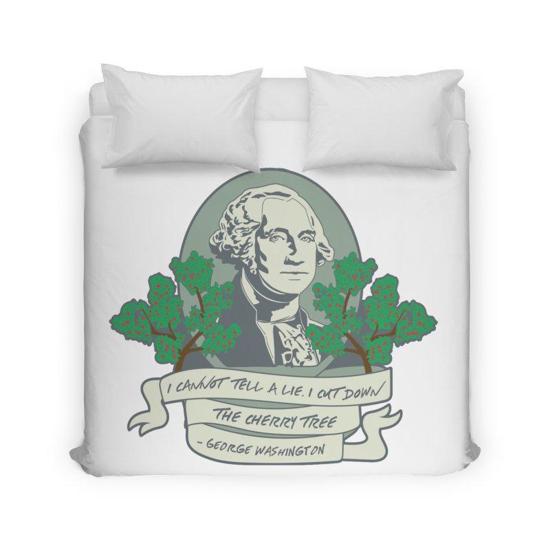 President's Day: Washington Home Duvet by Moon Joggers's Artist Shop