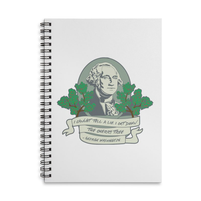 President's Day: Washington Accessories Lined Spiral Notebook by Moon Joggers's Artist Shop