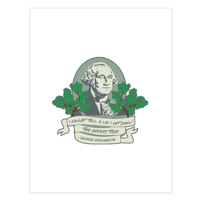 President's Day: Washington Home Fine Art Print by Moon Joggers's Artist Shop
