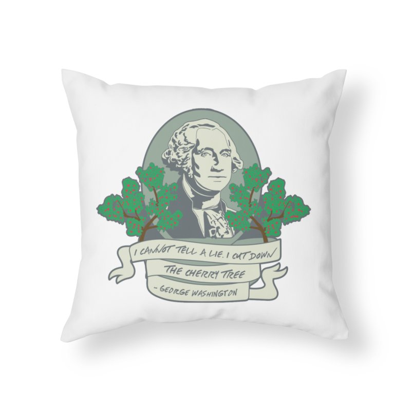 President's Day: Washington Home Throw Pillow by Moon Joggers's Artist Shop