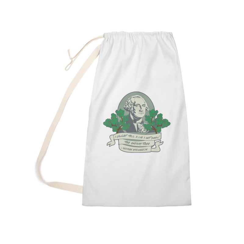 President's Day: Washington Accessories Laundry Bag Bag by Moon Joggers's Artist Shop