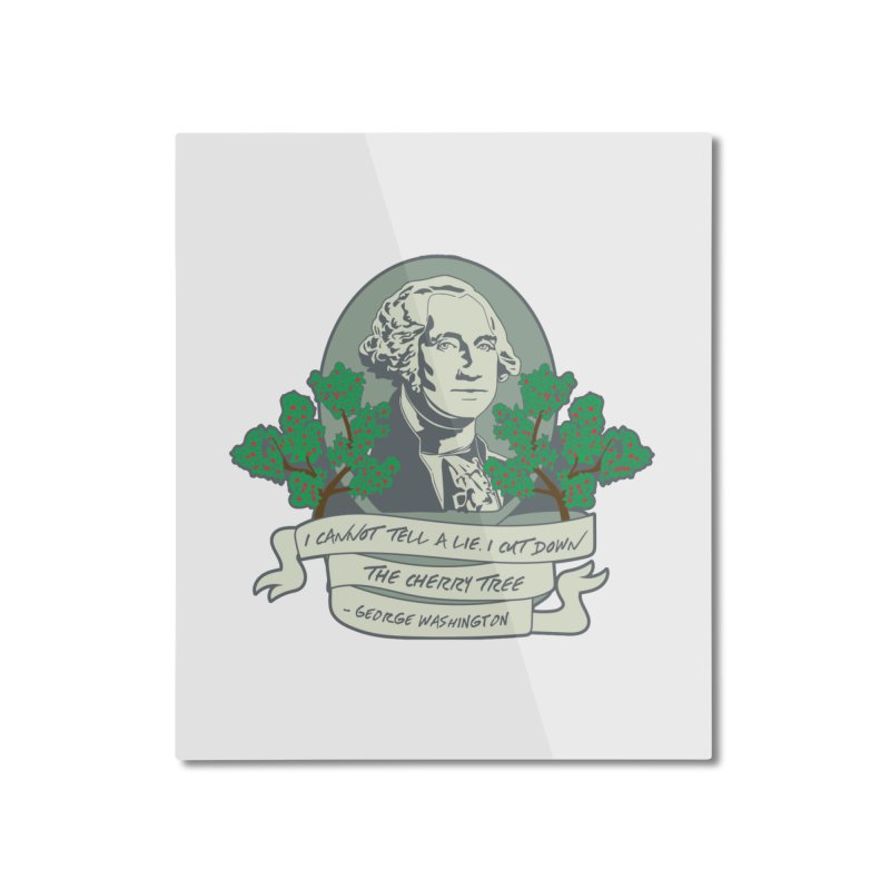President's Day: Washington Home Mounted Aluminum Print by Moon Joggers's Artist Shop