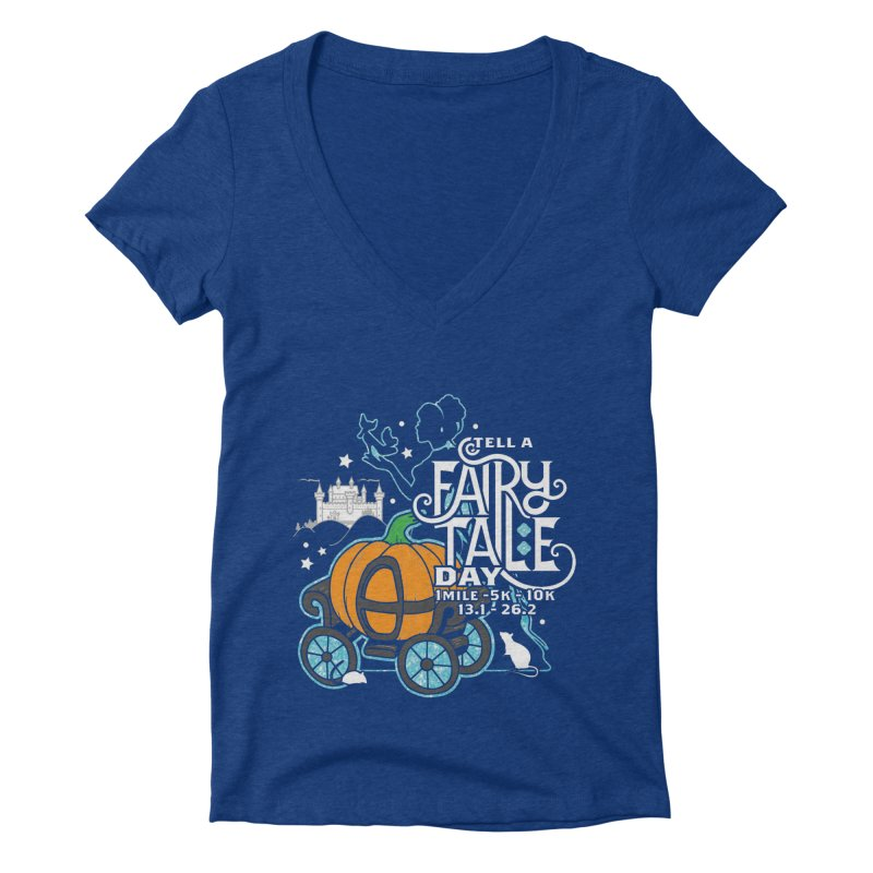 Fairy Tale Women's Deep V-Neck V-Neck by Moon Joggers's Artist Shop