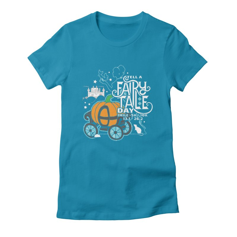 Fairy Tale Women's Fitted T-Shirt by Moon Joggers's Artist Shop