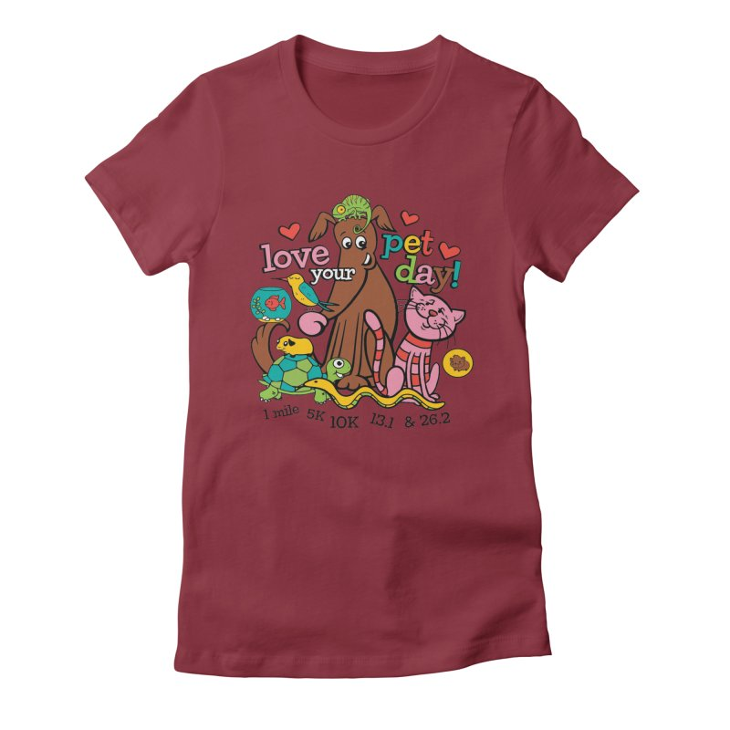 Love Your Pet Women's Fitted T-Shirt by Moon Joggers's Artist Shop