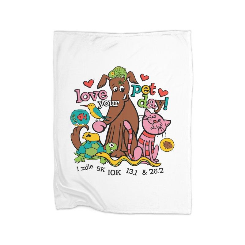 Love Your Pet Home Fleece Blanket Blanket by Moon Joggers's Artist Shop