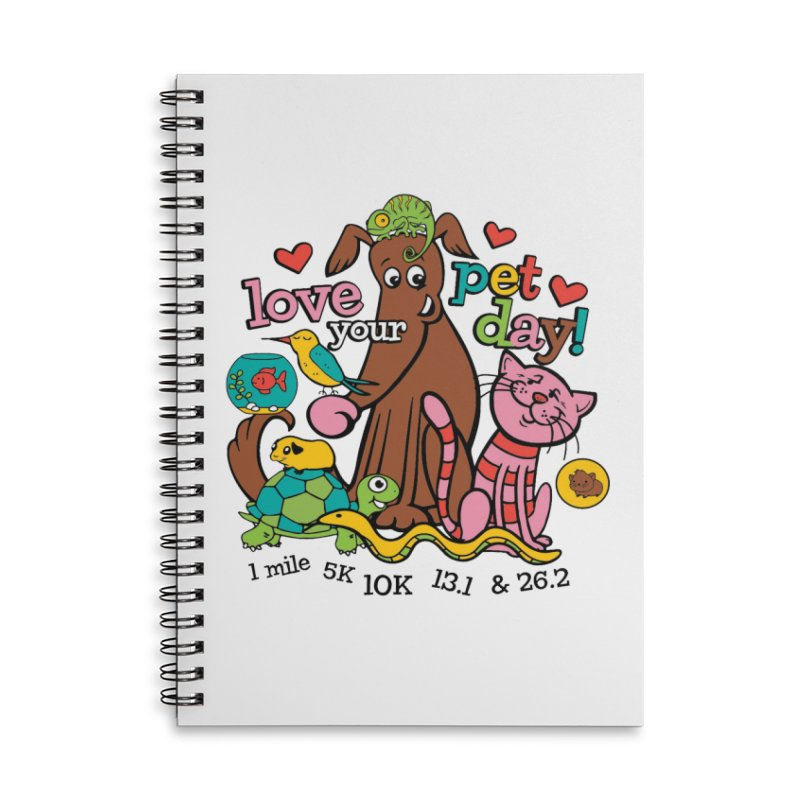 Love Your Pet Accessories Lined Spiral Notebook by Moon Joggers's Artist Shop
