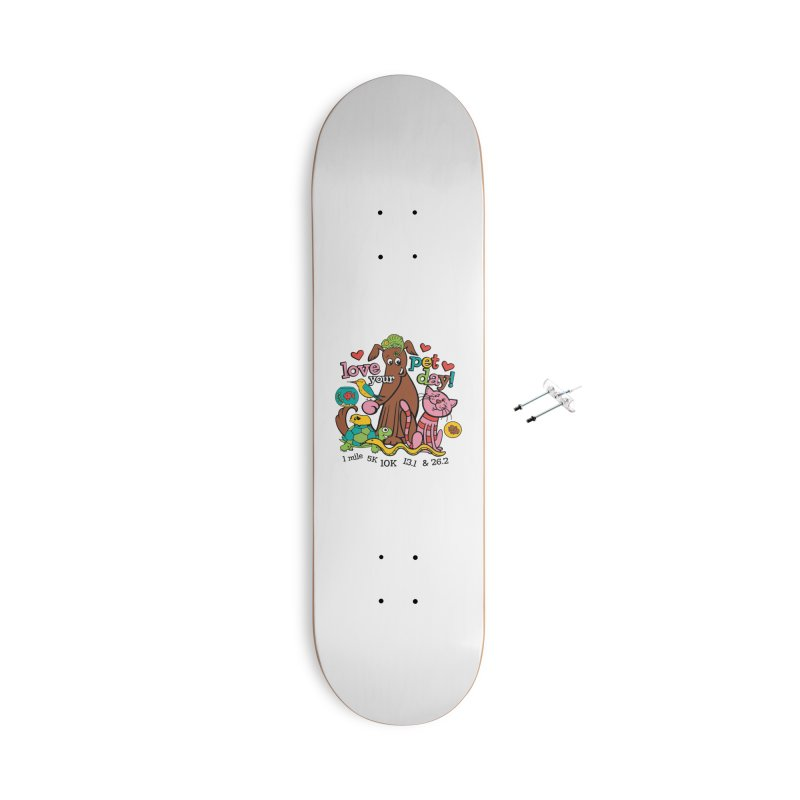 Love Your Pet Accessories With Hanging Hardware Skateboard by Moon Joggers's Artist Shop