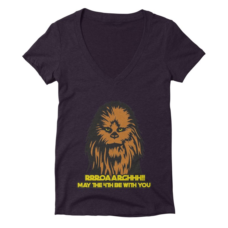 May the Fourth Be With You Women's Deep V-Neck V-Neck by Moon Joggers's Artist Shop