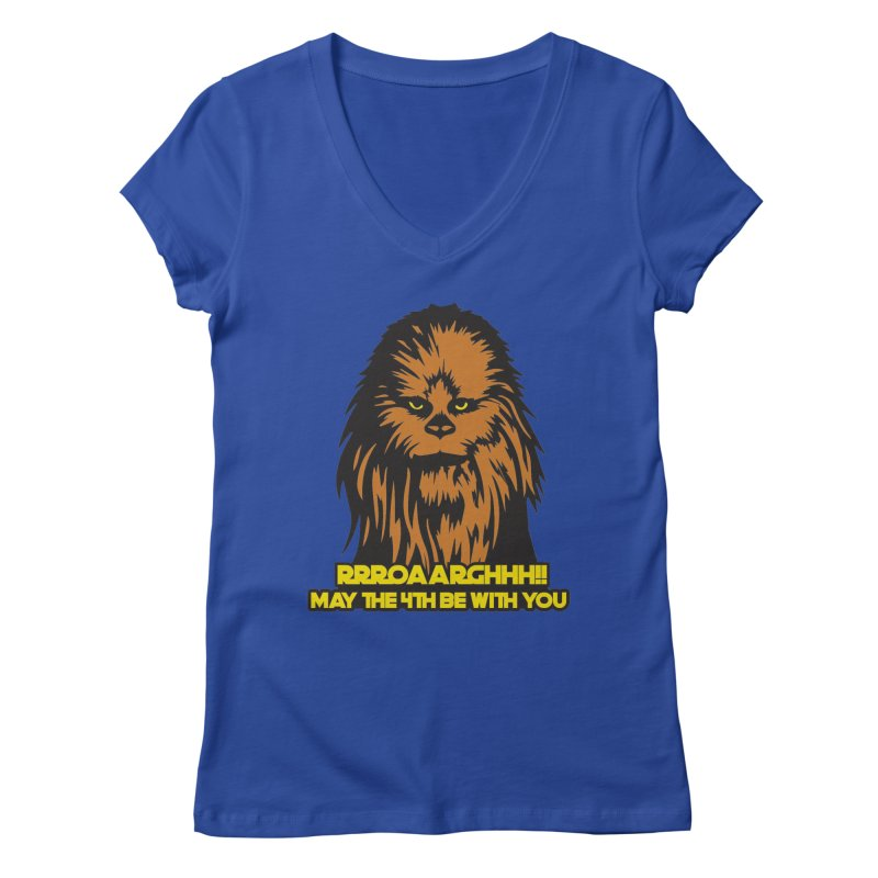 May the Fourth Be With You Women's Regular V-Neck by Moon Joggers's Artist Shop