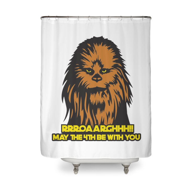May the Fourth Be With You Home Shower Curtain by Moon Joggers's Artist Shop