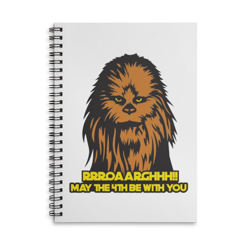May the Fourth Be With You Accessories Lined Spiral Notebook by Moon Joggers's Artist Shop