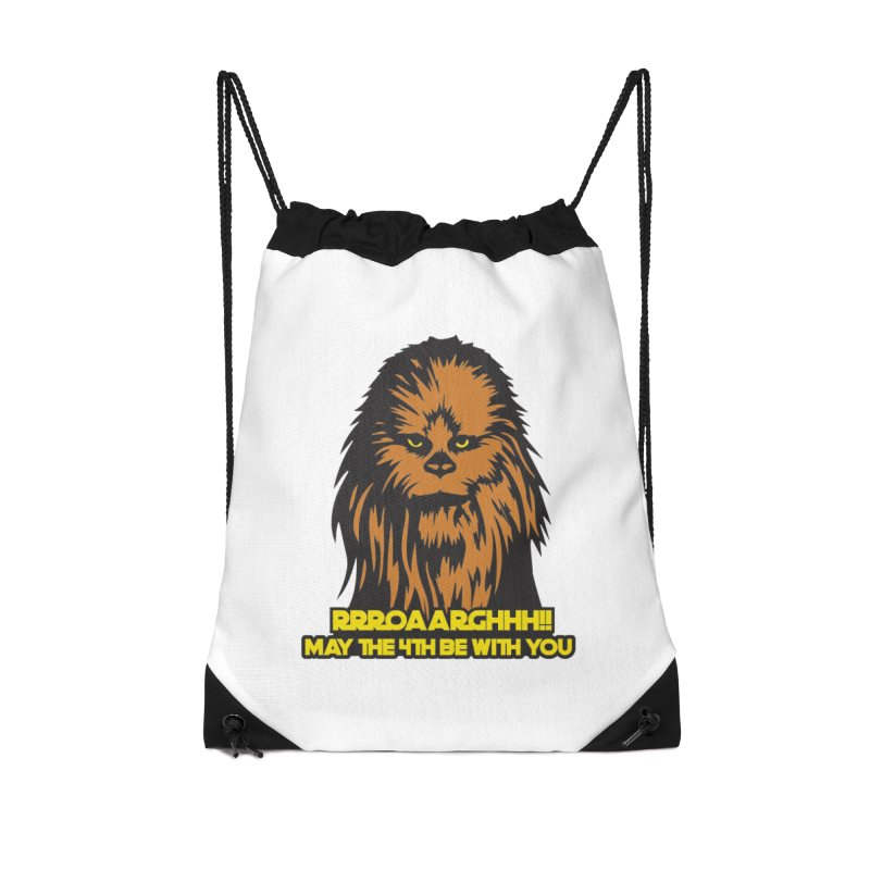 May the Fourth Be With You Accessories Drawstring Bag Bag by Moon Joggers's Artist Shop