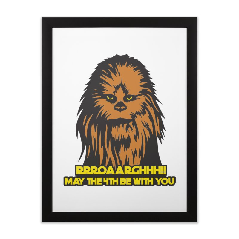 May the Fourth Be With You Home Framed Fine Art Print by Moon Joggers's Artist Shop
