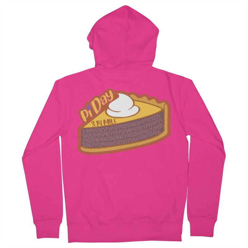 Pi Day Men's French Terry Zip-Up Hoody by Moon Joggers's Artist Shop