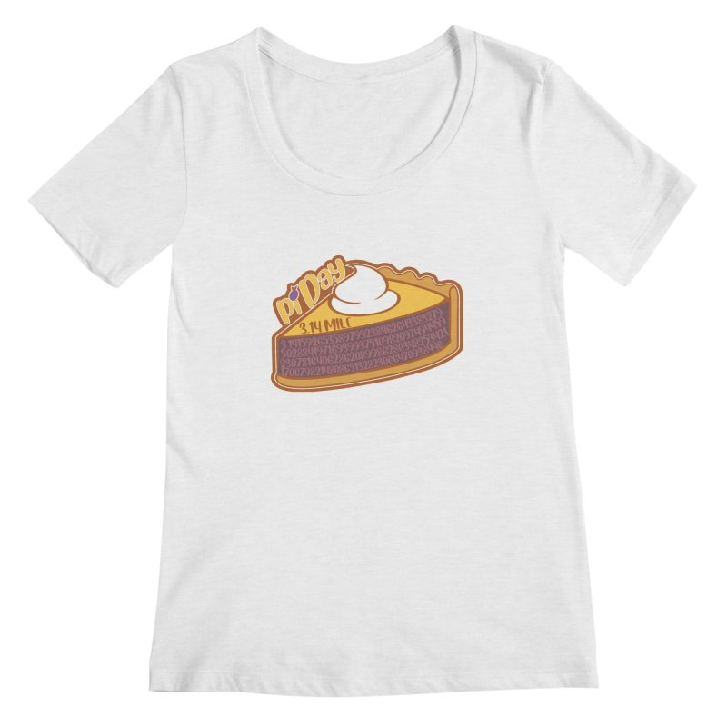 Pi Day Women's Regular Scoop Neck by Moon Joggers's Artist Shop