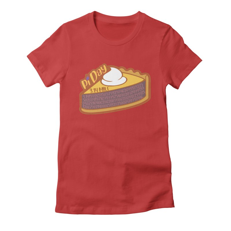 Pi Day Women's Fitted T-Shirt by Moon Joggers's Artist Shop