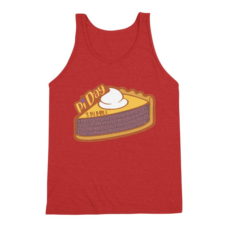 Pi Day Men's Triblend Tank by Moon Joggers's Artist Shop