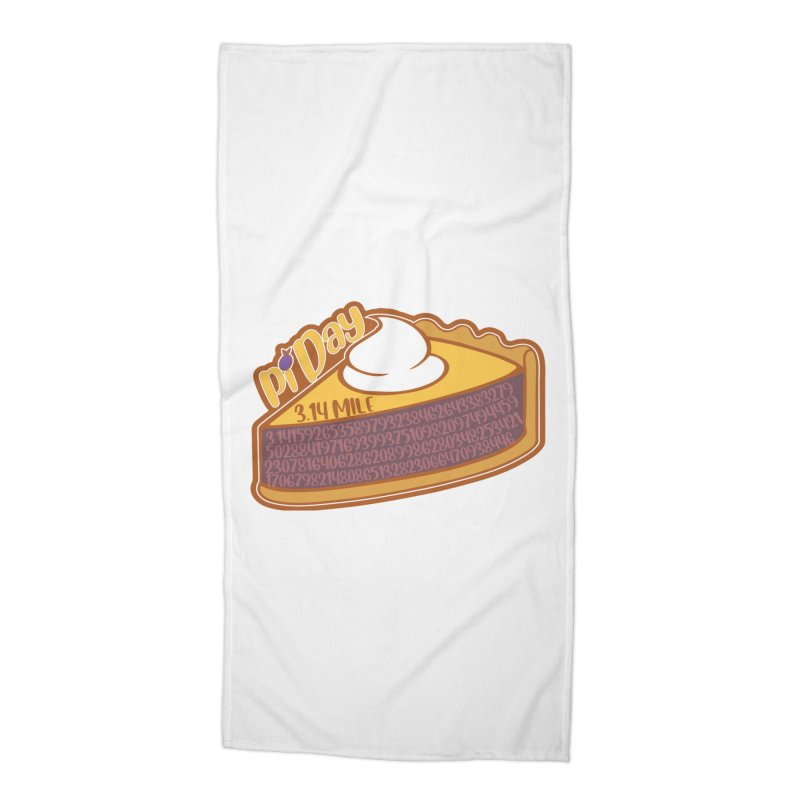 Pi Day Accessories Beach Towel by Moon Joggers's Artist Shop