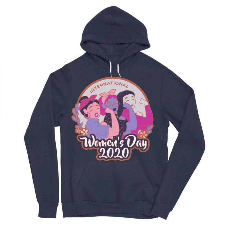 International Women's Day Women's Sponge Fleece Pullover Hoody by Moon Joggers's Artist Shop