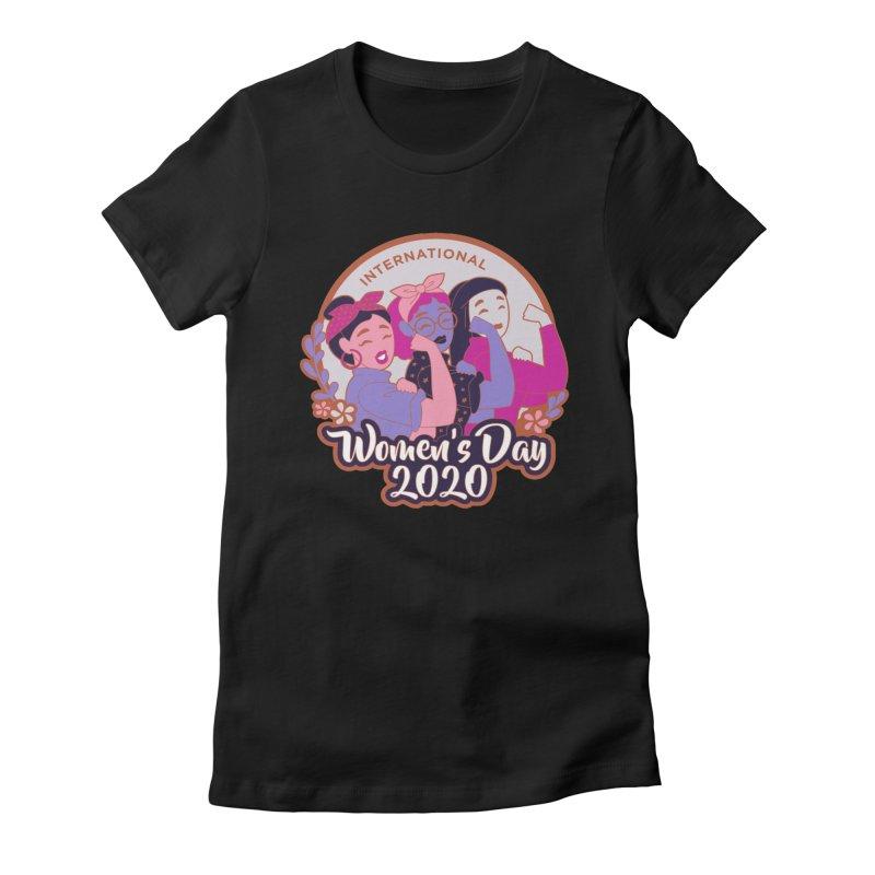 International Women's Day Women's Fitted T-Shirt by Moon Joggers's Artist Shop