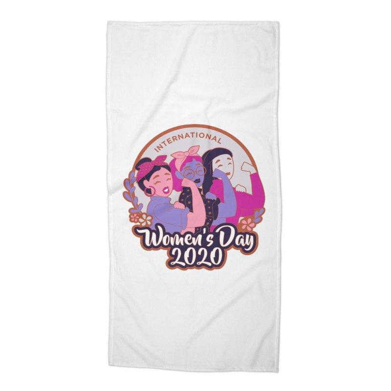 International Women's Day Accessories Beach Towel by Moon Joggers's Artist Shop