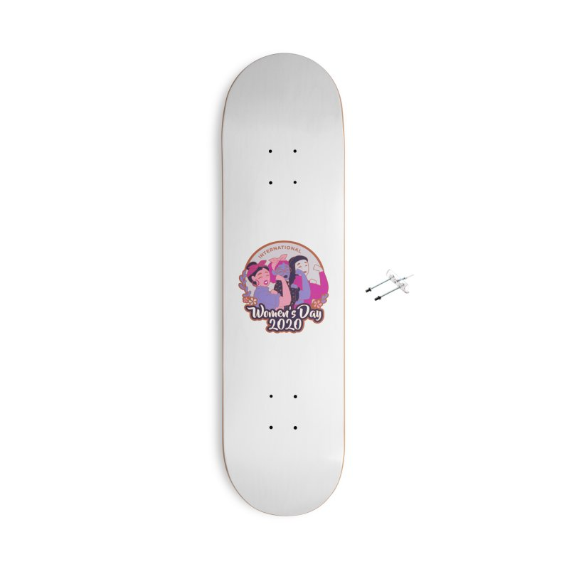International Women's Day Accessories With Hanging Hardware Skateboard by Moon Joggers's Artist Shop