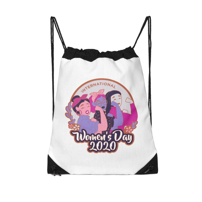International Women's Day Accessories Drawstring Bag Bag by Moon Joggers's Artist Shop