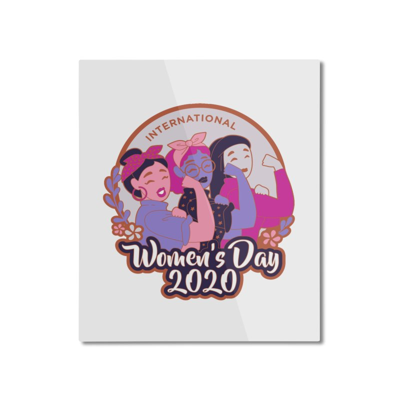 International Women's Day Home Mounted Aluminum Print by Moon Joggers's Artist Shop
