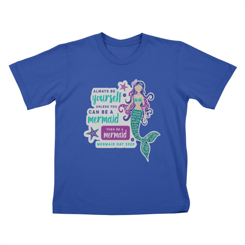 Be A Mermaid Kids T-Shirt by Moon Joggers's Artist Shop