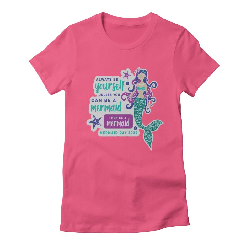 Be A Mermaid Women's Fitted T-Shirt by Moon Joggers's Artist Shop