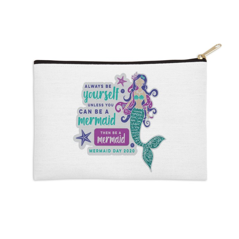 Be A Mermaid Accessories Zip Pouch by Moon Joggers's Artist Shop